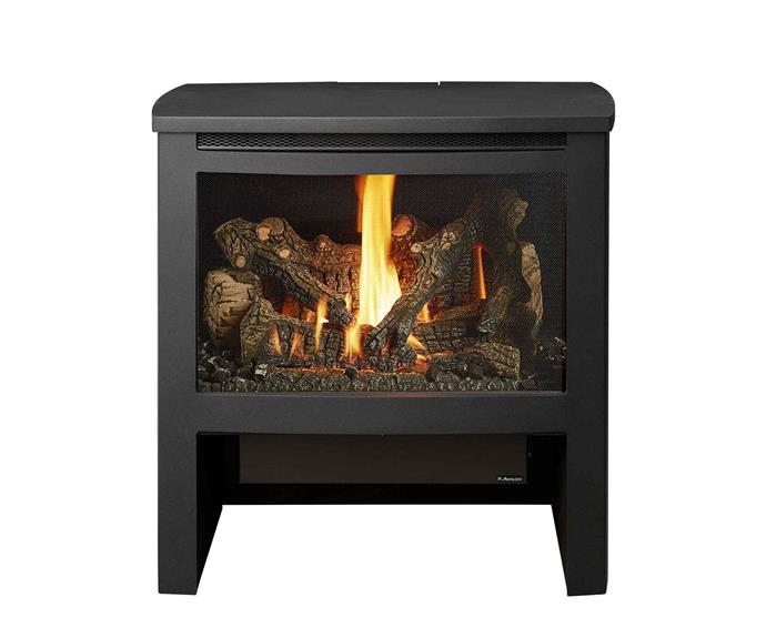 "Cypress GS2 freestanding gas fireplace, $5699 (supply only), [Lopi](https://lopi.com.au/|target=""_blank""
