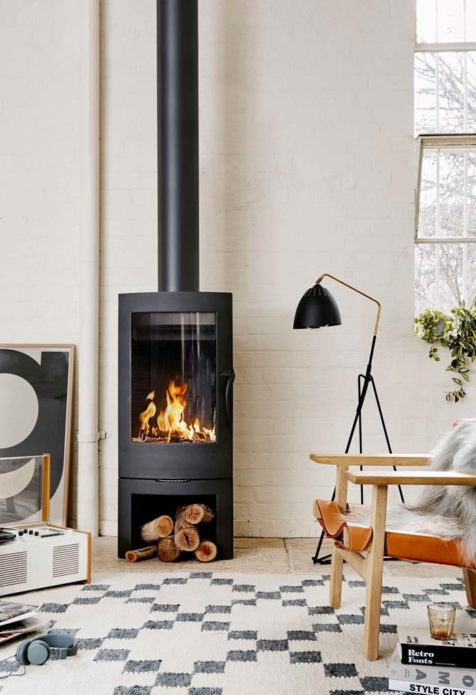 "A full belly of 'fuel' keeps the Invicta 'Argos' wood heater, $1500 (supply only) from [Oblica](https://oblica.com.au/|target=""_blank""