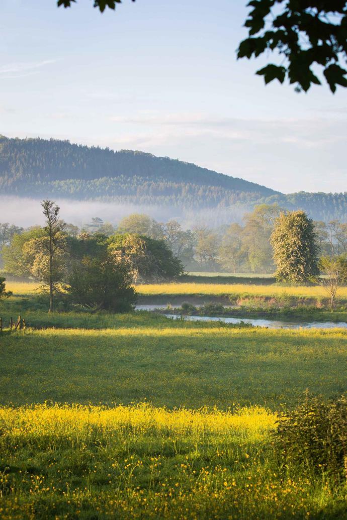 Meadows alongside the River Lugg.