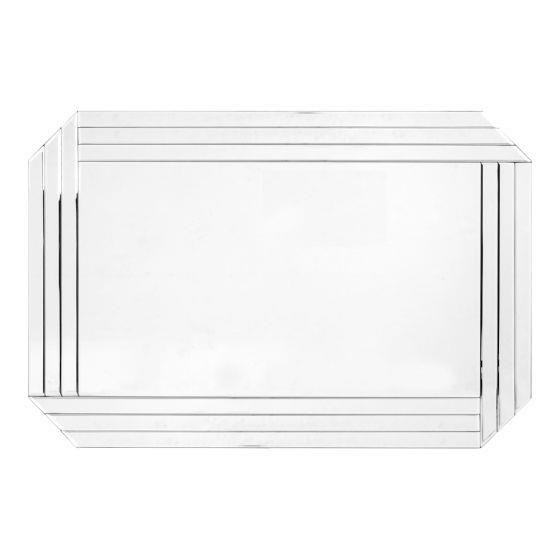 "Art Deco Lustre wall mirror, $149, [Early Settler](https://www.earlysettler.com.au/art-deco-luster-90x60x1-9-wall-mirror|target=""_blank""