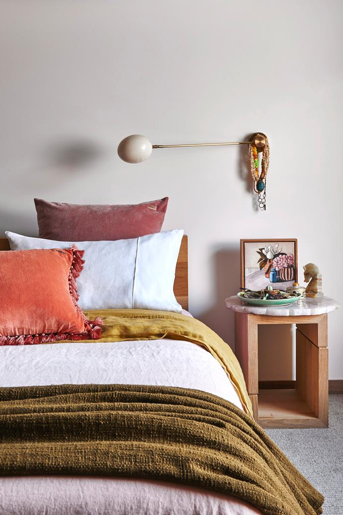 "**Update your colour scheme:** Deep colours including plum, magenta and mustard echo the falling leaves and natural winter palette. Switch up your [bedroom colour scheme](https://www.homestolove.com.au/bedroom-colour-schemes-19315|target=""_blank"") by adding cushions, accessories, vessels and candles with these rich colours and tones."