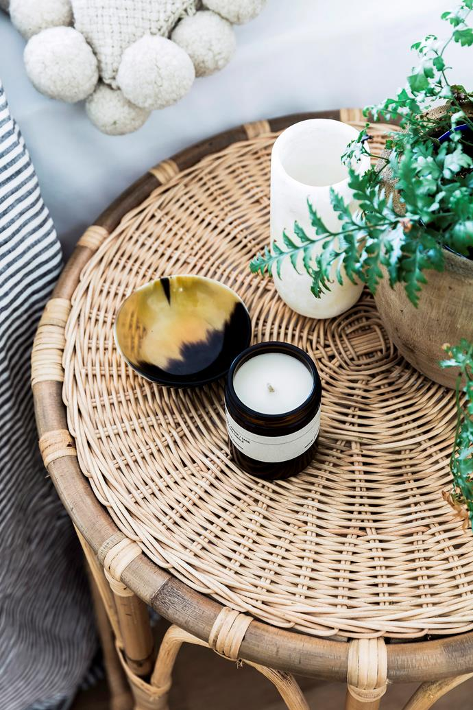 """**Add sweet scents:** Candles not only look great but also provide much needed warmth and light. Select a large tray and add a few different sized [candles with winter scents](https://www.homestolove.com.au/best-scented-candles-winter-20358 target=""""_blank"""") such as vanilla and caramel to set the mood."""