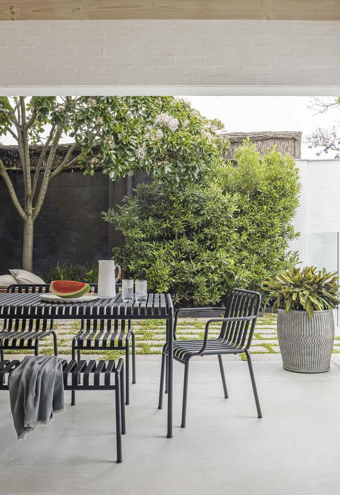 "**Outdoor area** Just off the family room, this outdoor space is populated by [Hay](https://hayshop.com.au/|target=""_blank""