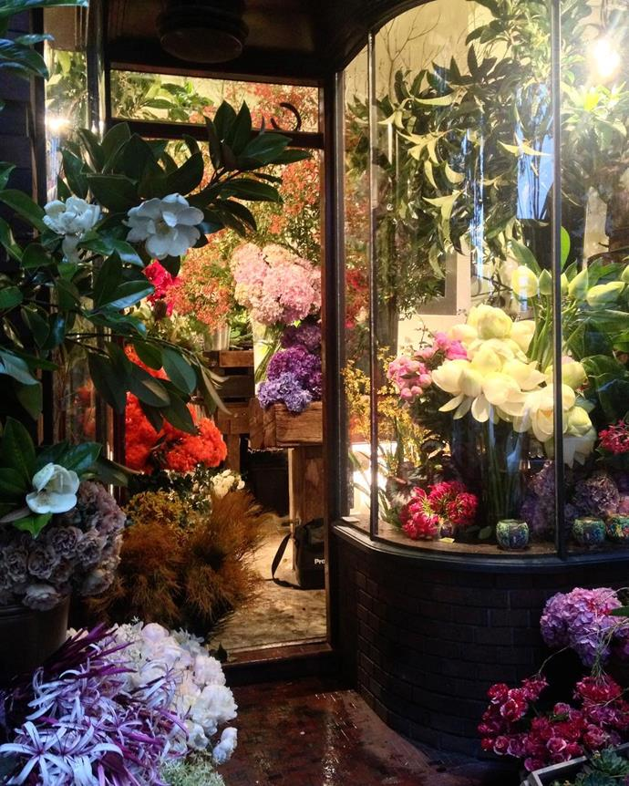 Outside of the beautiful Grandiflora store in Sydney's Potts Point.