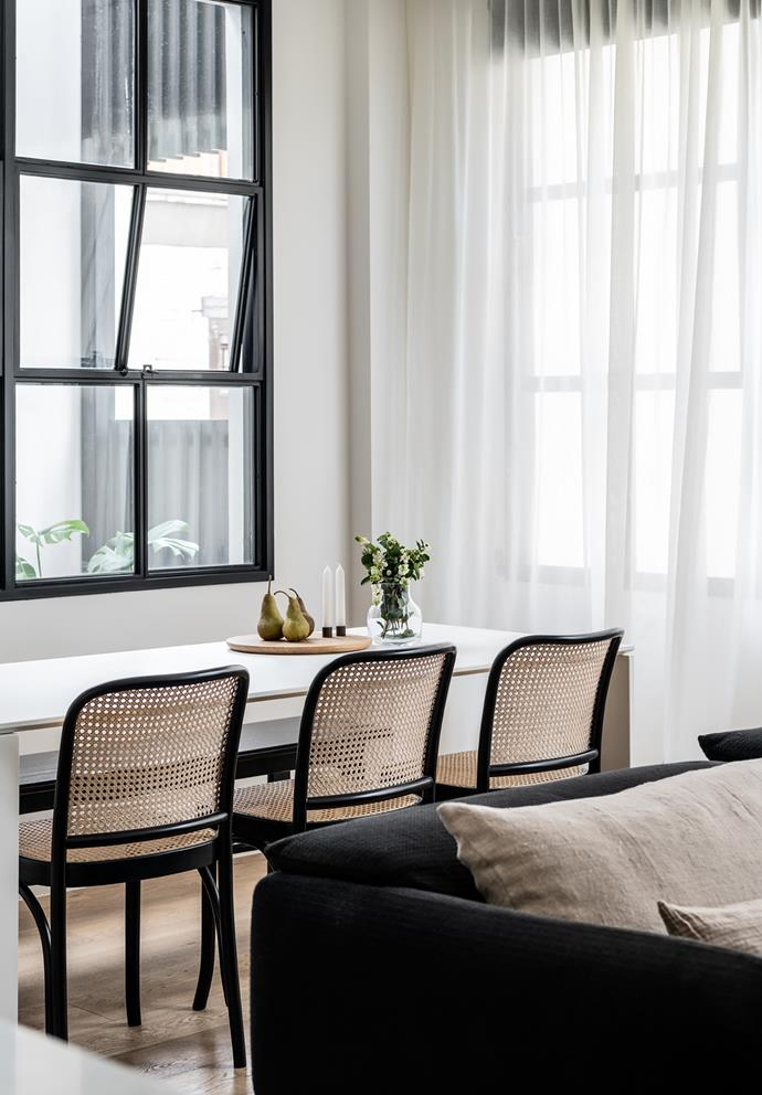 *The Franklin apartment.* In the dining room: Dining chairs from Thonet Melbourne. Kartell 'Four Rectangular' dining table from Space Furniture.