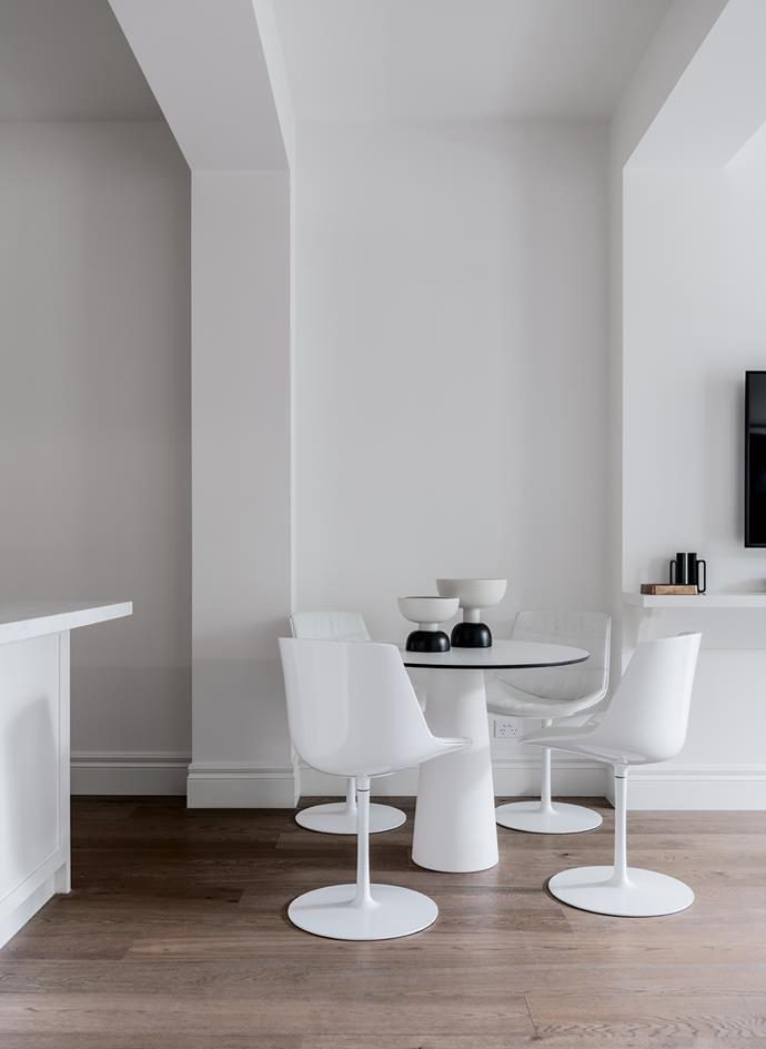 *The Harry apartment.* In the dining room: MDF Italia 'Flow' dining chairs from Hub Furniture. Moooi 'Container' dining table from Space Furniture.