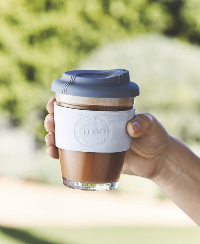 Glass Travel Mug (340ml), $7.99