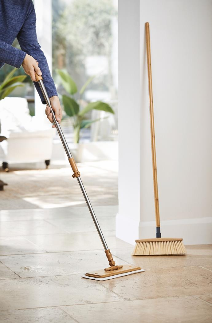 Bamboo Flat Floor Mop, $14.99