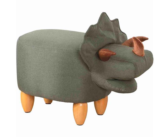 "Kodu upholstered Triceratops Ottoman, $49, [Big W](https://www.bigw.com.au/ target=""_blank"" rel=""nofollow"")."