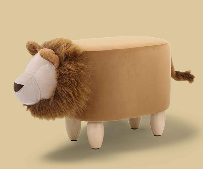 "The Kodu Plush Lion Ottoman from [Big W](https://www.bigw.com.au/|target=""_blank""