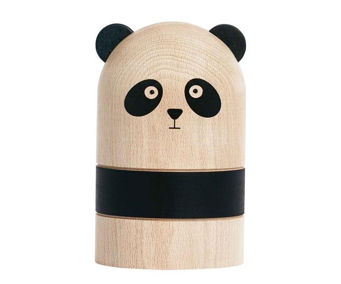 "Oyoy 'Panda' money bank, $149, [Designstuff](http://www.designstuff.com.au/ target=""_blank"" rel=""nofollow"")."