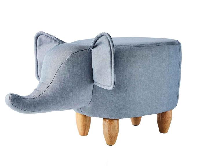 "Kodu Upholstered Elephant Ottoman, $49, [Big W](https://www.bigw.com.au/ target=""_blank"" rel=""nofollow"")."