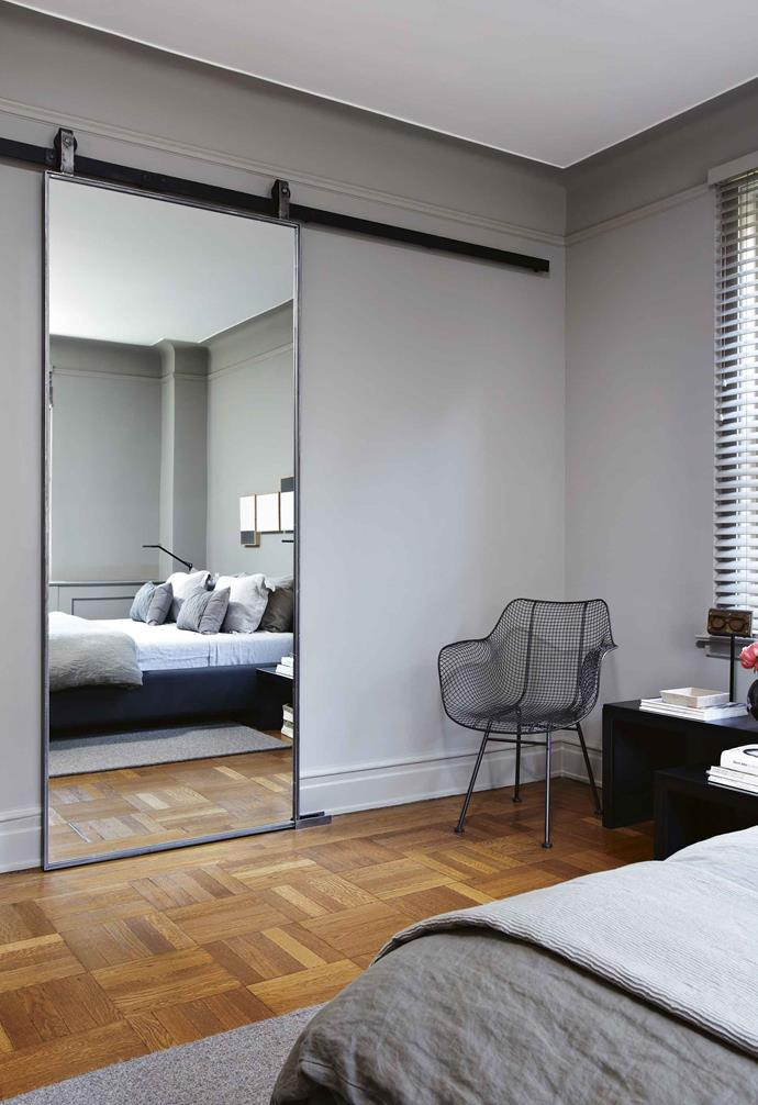 "**Mirrored barn door**<br><br>Trend watchers will have seen the custom-designed [barn door](https://www.homestolove.com.au/barn-door-17386|target=""_blank"") pop up in more and more design-savvy homes, and it's easy to see why. <br><br>Not only does it look super streamlined and add [industrial appeal](https://www.homestolove.com.au/industrial-style-kitchen-ideas-20367
