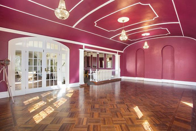 The grand ballroom, which has been host to many local weddings over the years, was given a dramatic colour overhaul.