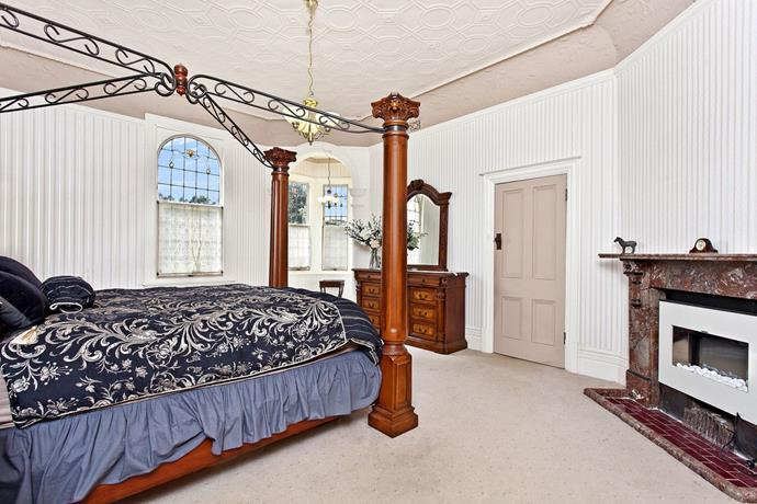 A four-poster bed in one of the suites at The Old Linton.