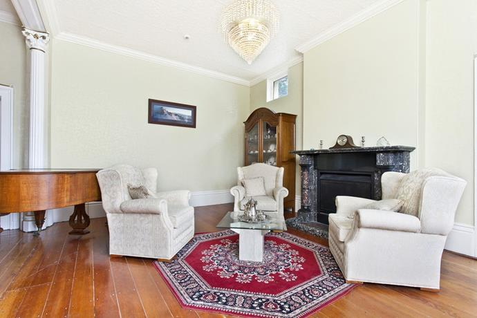 Many of the homestead's fireplaces are constructed from marble. This cosy sitting area is no exception.