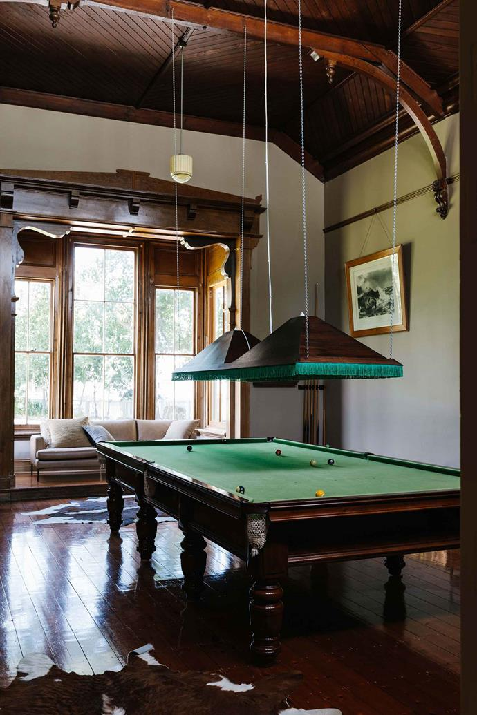 The billiards room was added in the 1880s.