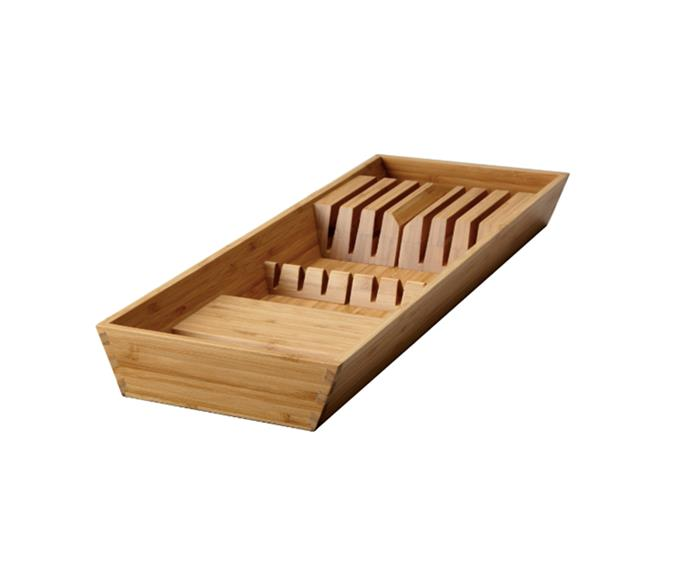 "[VARIERA bamboo Knife tray, $24.99](https://www.ikea.com/au/en/catalog/products/10271133/|target=""_blank""