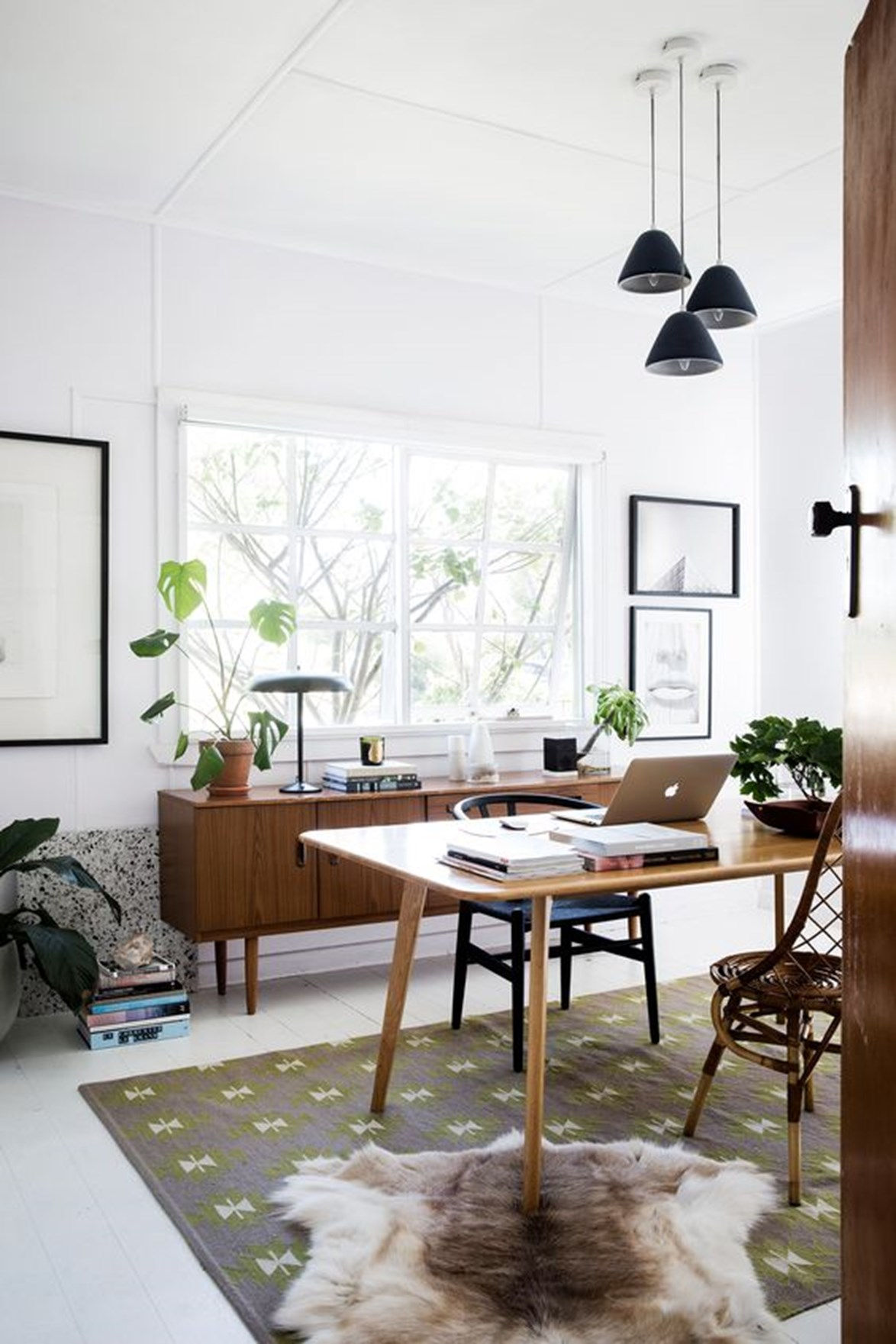 Placing your desk away from the wall will emphasise the purpose of the space.