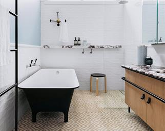 patterned tiles bathroom