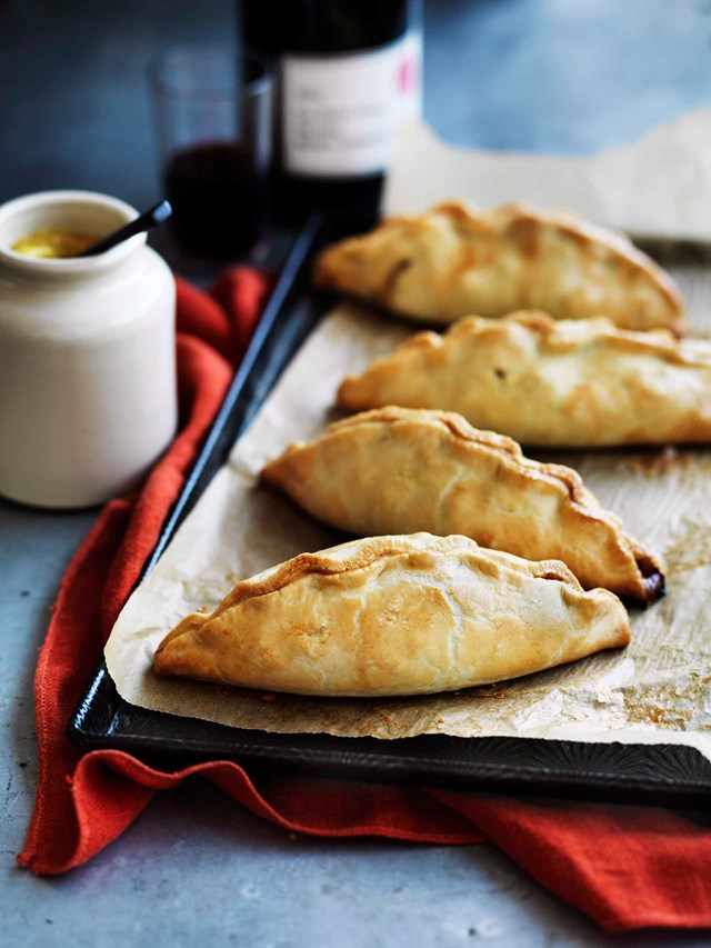 "**[MINI VEGIE PASTIES](https://www.homestolove.com.au/make-mini-vegie-pasties-8946|target=""_blank"")**<br> <br>A humble vegie pasty is the perfect cold-weather lunch. Hearty and delicious, they can be eaten piping hot from the oven, or even cold. Its versatility makes it a great lunchbox or picnic staple."