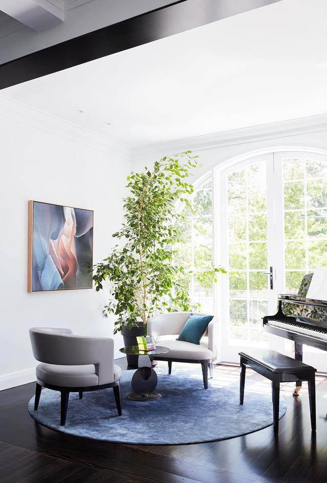 Located in Melbourne's Toorak, this vast home was built in the early-20th century, and its elegant rebirth is sharp and contemporary without forsaking its heritage roots. Interior design by SJB. From *Belle* December/January 2017/18.