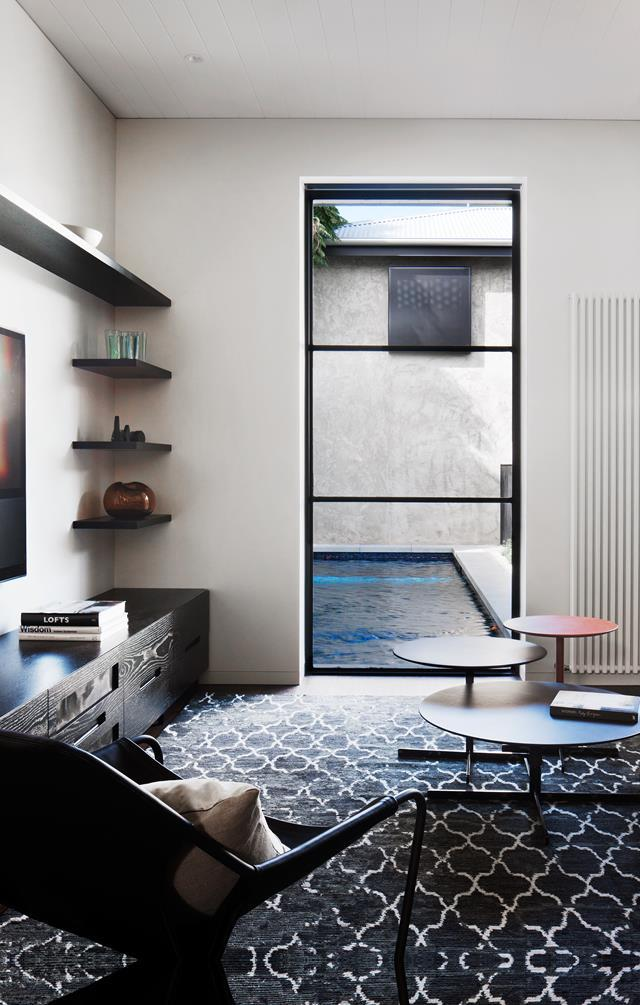 """Metal frames fashion a contemporary edge around this [heritage home](https://www.homestolove.com.au/victorian-home-changes-its-outlook-5262