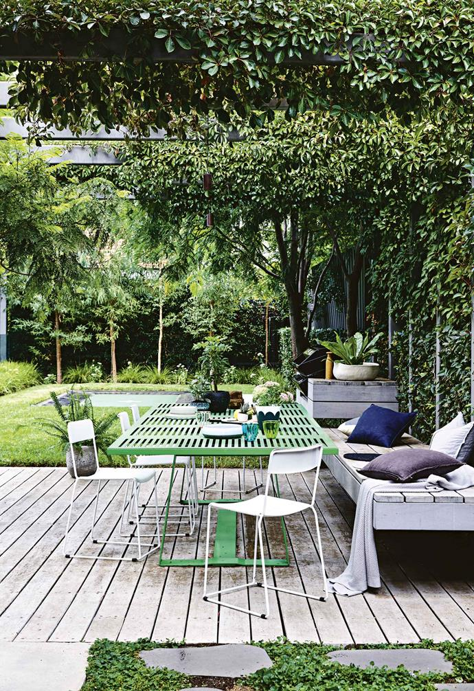 "**Garden** This entertaining deck – with its custom-designed floating bench and barbecue area, as well as an old outdoor setting – makes the most of the [lush garden](https://www.homestolove.com.au/family-garden-revamp-melbourne-6256|target=""_blank"") designed by Scott Leung of [Eckersley Garden Architecture](https://e-ga.com.au/