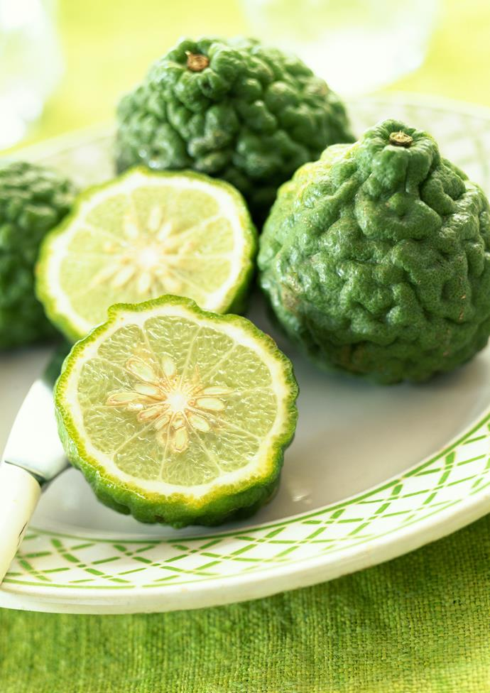 """They're strongly-flavoured juice makes them perfect for flavouring food such as a [kaffir lime and coconut tart](http://www.gourmettraveller.com.au/recipes/chefs-recipes/kaffir-lime-and-coconut-tart-8898 target=""""_blank"""")."""