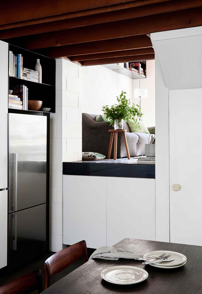 Many homes come with a pre-built fridge alcove that can be hard to change without a renovation.