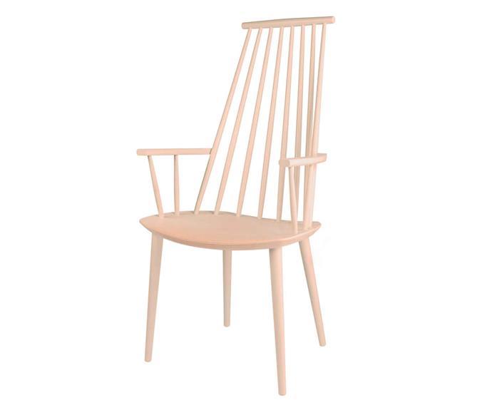 "HAY 'J110' chair, $579, [Luumo Design](https://luumodesign.com/|target=""_blank""|rel=""nofollow"")."
