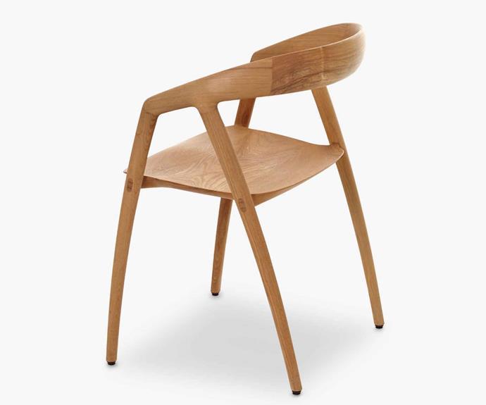 "Miyazaki 'DC09' chair, $3350, [Great Dane](https://greatdanefurniture.com/|target=""_blank""|rel=""nofollow"")."
