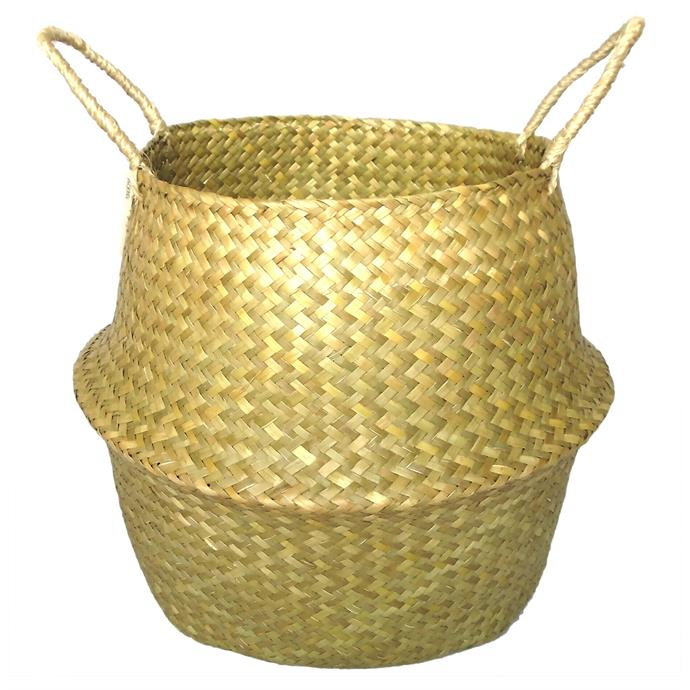 "Seagrass 'Belly' [basket](https://www.bunnings.com.au/37-x-37-x-31cm-seagrass-belly-basket_p0057624|target=""_blank""