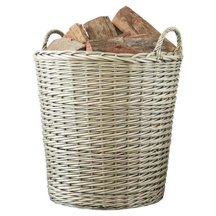 "Decofire 450 x 450mm grey wash 'Prairie' [log basket](https://www.bunnings.com.au/decofire-450-x-530-x-450mm-grey-wash-prairie-log-basket_p3171601|target=""_blank""