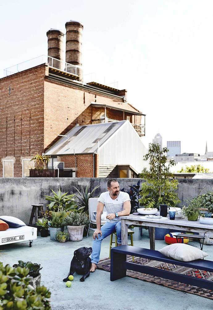 "Still to be completed? There are plans for the rooftop garden. ""I know this sounds crazy, but next year we want to lay AstroTurf, set up fairy lights, a [fire pit](https://www.homestolove.com.au/best-fire-pits-under-100-6516
