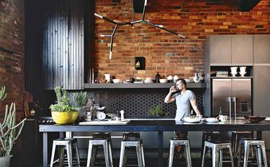 A loft-style industrial warehouse home in Melbourne