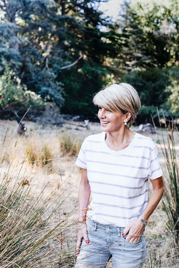 Surrounded by a cherry orchard, Willow Cottage was Julie Bishop's first home — she shared a bedroom with her two sisters.