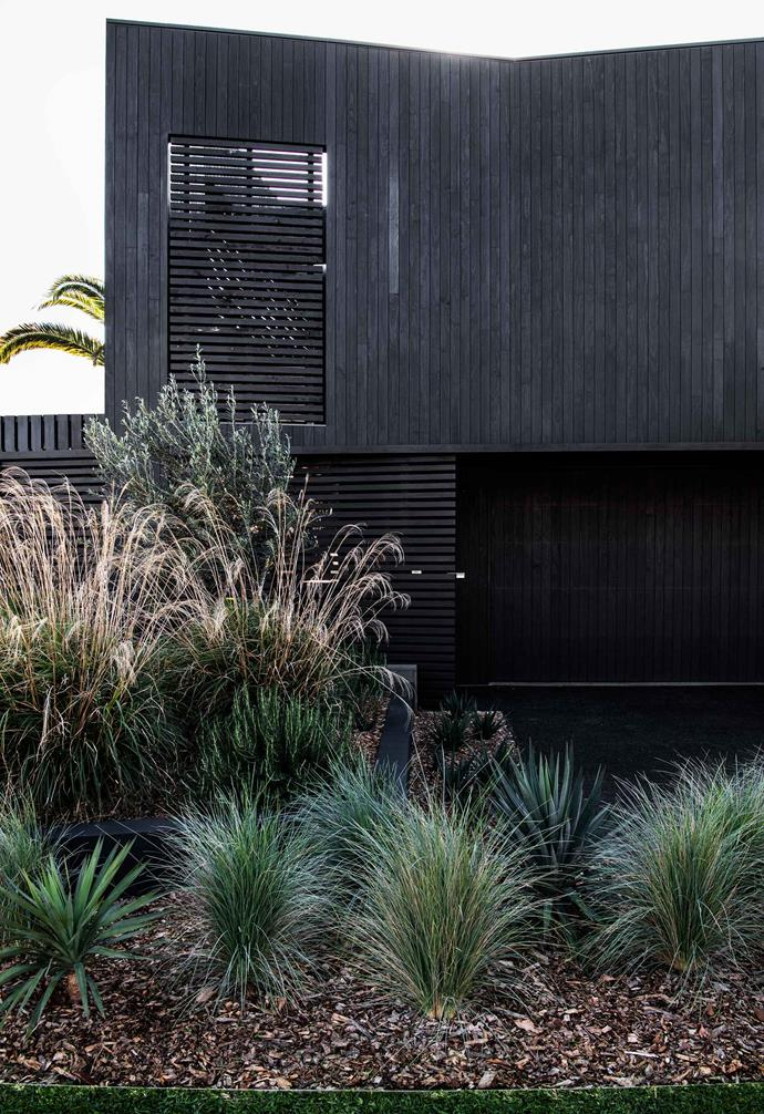 "**Exterior** The home's long-life, sustainable Accoya [wood cladding](https://www.homestolove.com.au/wall-cladding-ideas-16125|target=""_blank"") is coated with Woca exterior oil in Anthracite. James Headland of [Pangkarra Garden Design](http://pangkarra.com.au/