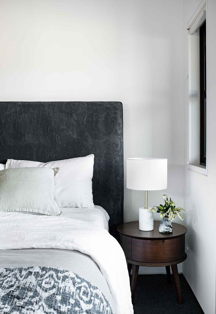 **Guestroom** The bed is from Susan and Greg's former home in Sydney.