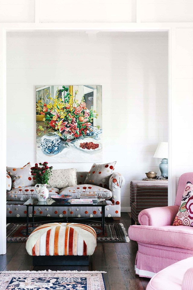 "A still-life painting entitled 'Sandra's Flowrers' by [Kate Durack](http://katedurack.com/|target=""_blank""