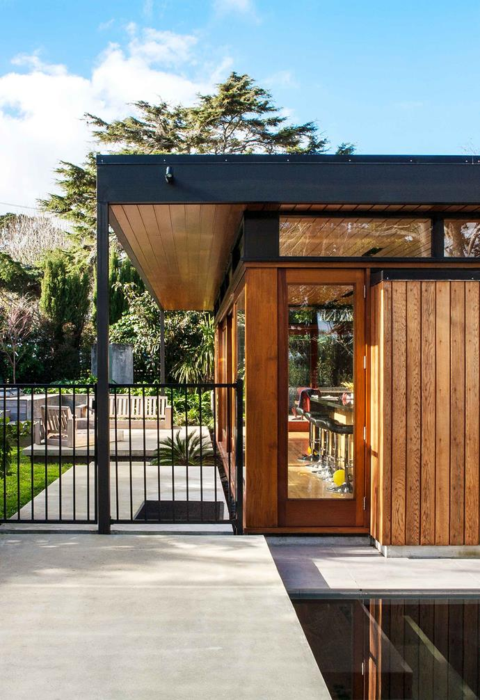 "This [renovated 1970s Auckland home](https://www.homestolove.com.au/renovated-1970s-auckland-home-7176|target=""_blank"") was clad in cedar."
