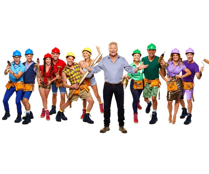 Scott Cam with The Block's 2019 lineup of contestants.