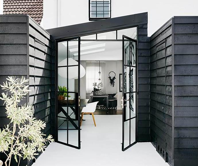 steel-frame door