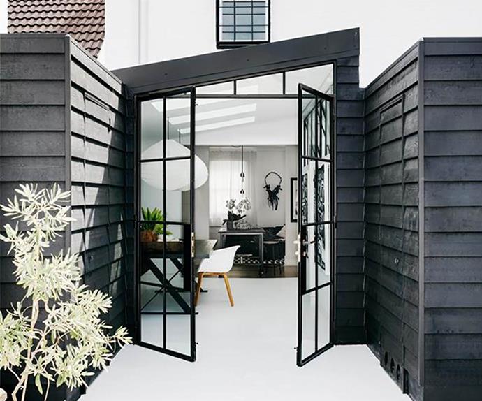 steel-frame door