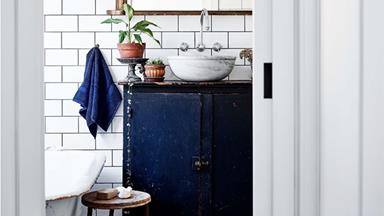 How to make a washstand from a vintage cabinet