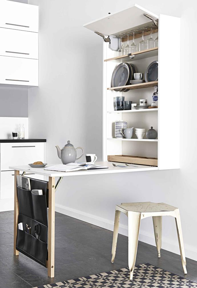 "**On the table** If floor space is tight, turn to wall-hung joinery and multi-purpose pieces. This [Magnet](https://www.magnet.co.uk/|target=""_blank""
