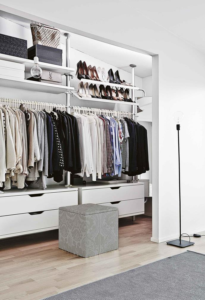 "**Wardrobe wonder** The [walk-in wardrobe](https://www.homestolove.com.au/walk-in-wardrobe-designs-6290|target=""_blank"") of your dreams is possible. Having the luxury of this space means you're obligated to make the most of it and the best approach is a variety of hanging storage, drawers, racks and shelves. This [IKEA](https://www.ikea.com/