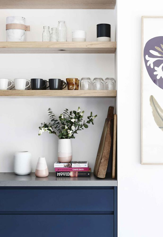 "**Shelf life** Carving a wall niche for open shelving adds a distinctive style element to a cooking zone, like this example by [One Girl Interiors](http://www.onegirlinteriors.com.au/|target=""_blank""