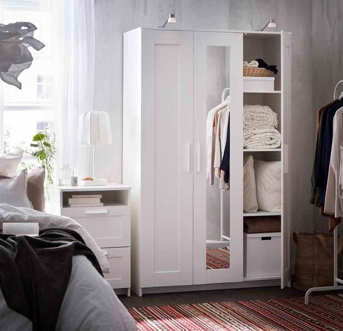 """The handy (and popular!) [BRIMNES wardrobe](https://www.ikea.com/au/en/catalog/products/40358422/