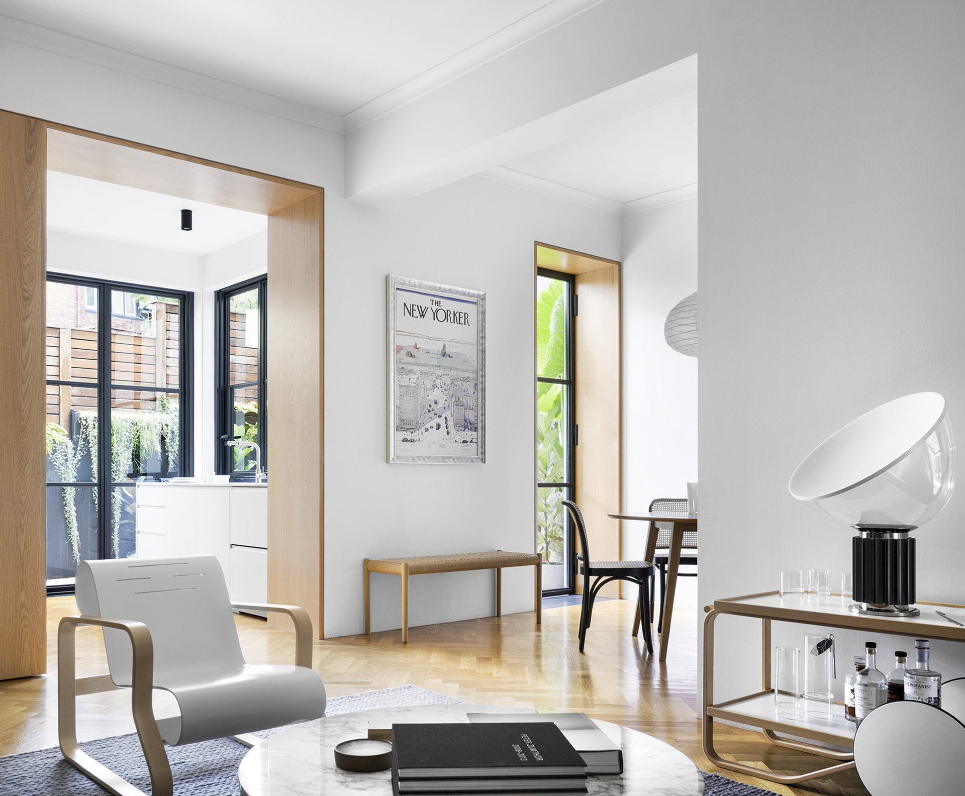 A contemporary apartment with a classic and warm colour palette